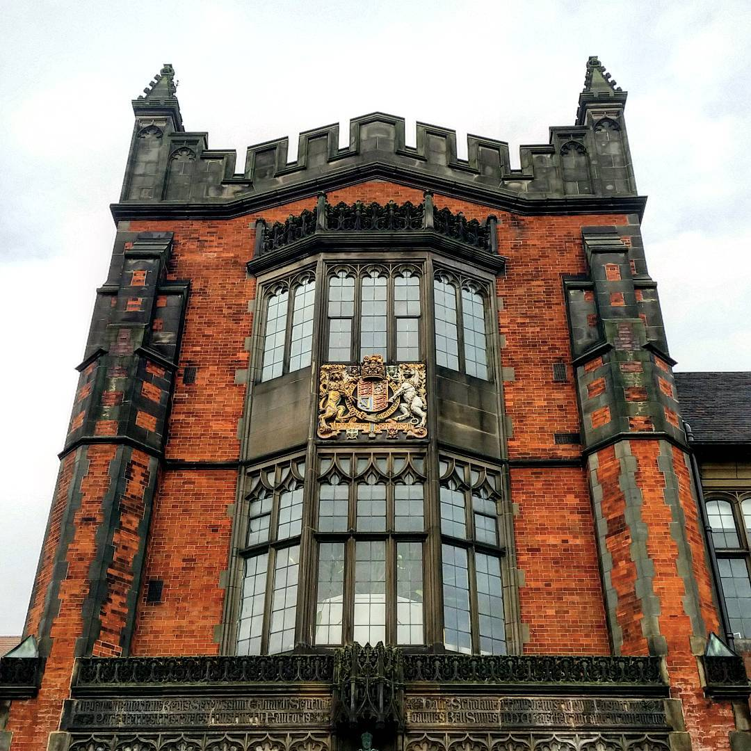 building facade on Newcastle University's campus