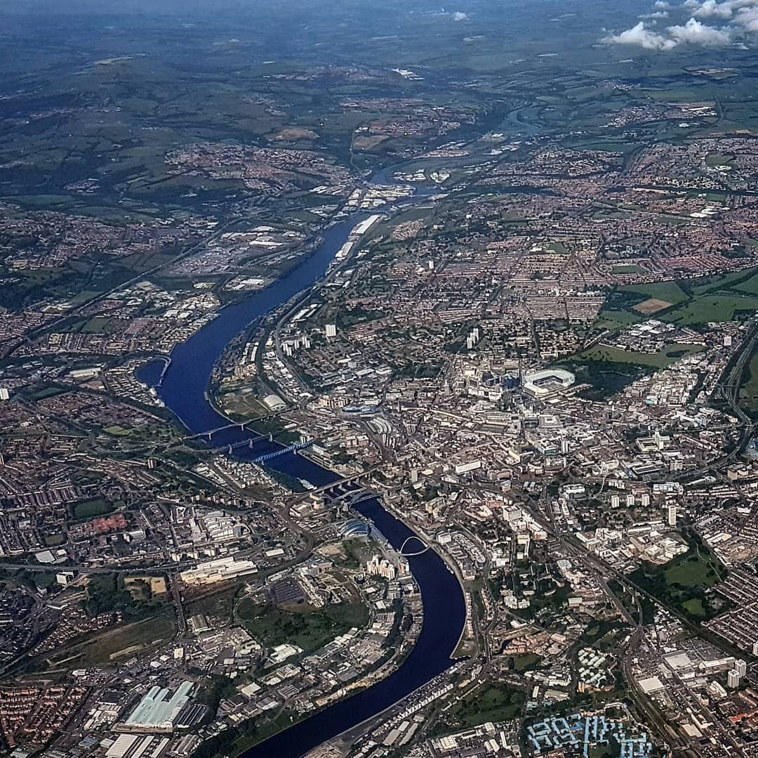 Newcastle upon Tyne from the air